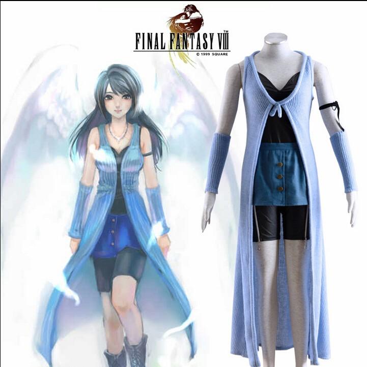 Final कल्पना VIII Rinoa Heartilly Dress Cosplay Costume