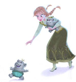 겨울왕국 - Anna is Our Babysitter Book