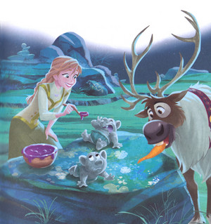 Холодное сердце - Anna is Our Babysitter Book