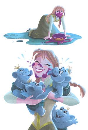 Frozen - Anna is Our Babysitter Book
