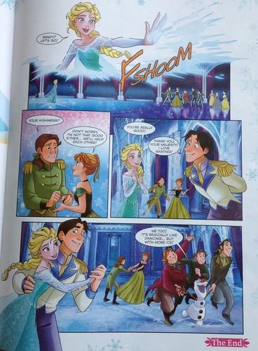 Elsa und Anna Hintergrund containing Anime entitled Frozen Comic - Dancing Tag