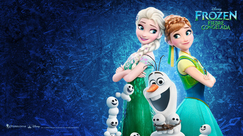 elsa e ana wallpaper entitled Frozen - Uma Aventura Congelante Fever wallpaper