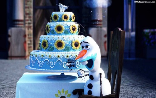 Frozen wallpaper with a cupcake entitled Frozen Fever wallpaper