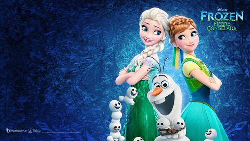 Princess Anna wallpaper titled Frozen - Uma Aventura Congelante Fever wallpaper