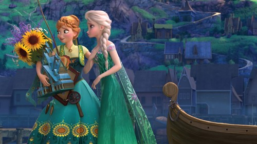 Frozen wallpaper with a bridesmaid entitled Frozen Fever