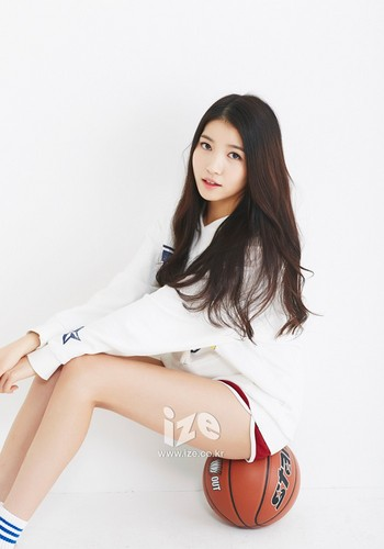 GFriend wallpaper probably containing bare legs and tights titled GFriend Sowon Ize Magazine 2015