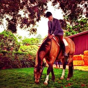 Gabriel on horsy <3