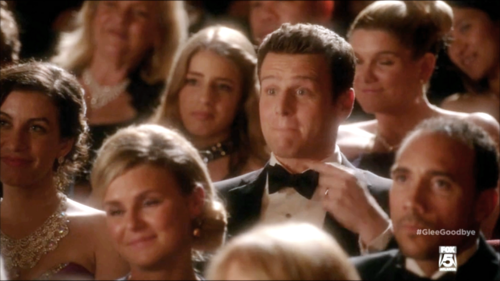 Jesse St. James Hintergrund probably containing a business suit titled Glee S06E13 - Dreams Come True