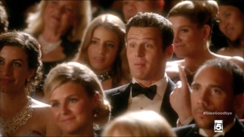 Jesse St. James Hintergrund probably with a portrait entitled Glee S06E13 - Dreams Come True