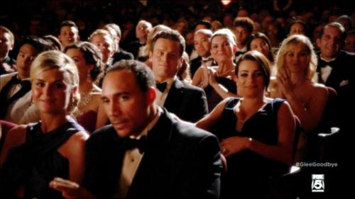 Rachel and Jesse fondo de pantalla containing a business suit entitled glee S06E13 - Dreams Come True