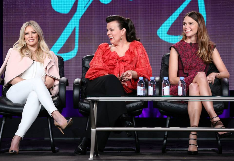 Hilary duff debi mazar and sutton foster at the television critics association younger tv - Younger tv show ...