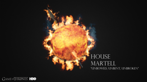 Game of Thrones karatasi la kupamba ukuta titled House Martell