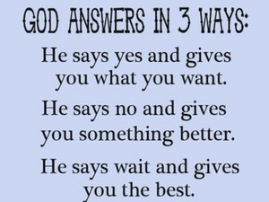 How does God answer?