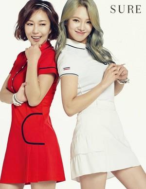 Hyoyeon with S.E.S Shoo - 슈어/Sure April 2015