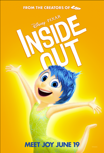 Inside Out achtergrond probably containing anime entitled Inside Out Poster - Joy