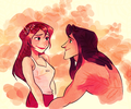 Jane and Tarzan - walt-disneys-tarzan fan art