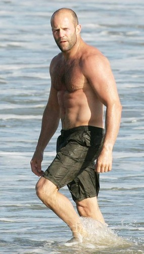 Jason Statham wolpeyper probably with a hunk, swimming trunks, and a bather titled Jason Statham