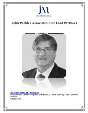John Peebles Associates: Our Lead Partners