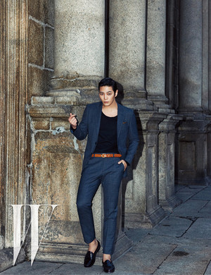 Joo Won and Kim Young KwangFor W Korea's April 2015 Issue