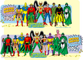 Justice Society of America 1940  - dc-comics fan art