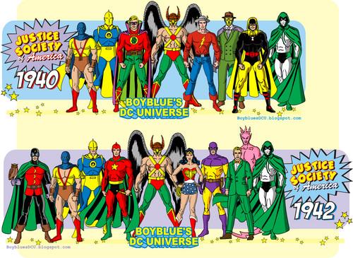 दी सी कॉमिक्स वॉलपेपर entitled Justice Society of America 1940