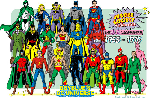 DC Comics wallpaper probably containing anime titled Justice Society of America 1950s