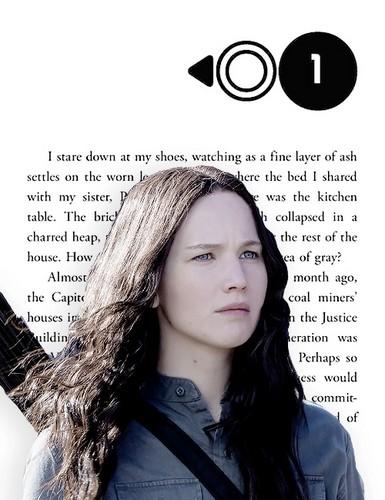 Katniss Everdeen wallpaper probably containing a portrait entitled Katniss Everdeen | Mockingjay - Chapter One