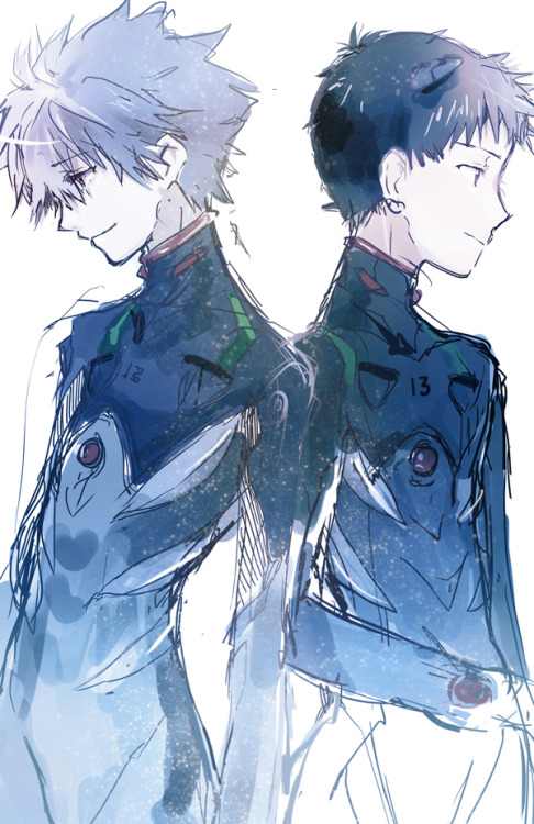 Kaworu and Shinji - Neon Genesis Evangelion Photo ...