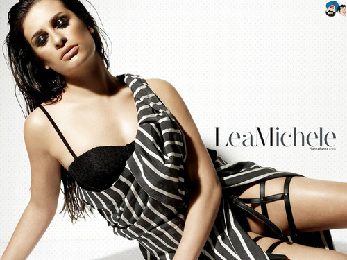 Lea Michele karatasi la kupamba ukuta possibly with attractiveness, a bustier, and a lingerie entitled Lea Michelle