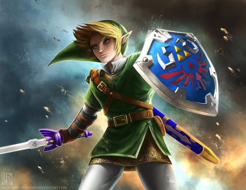 The Legend of Zelda wallpaper titled Link - Fan art