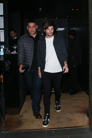 Louis leaving Chinawhite Nightclub