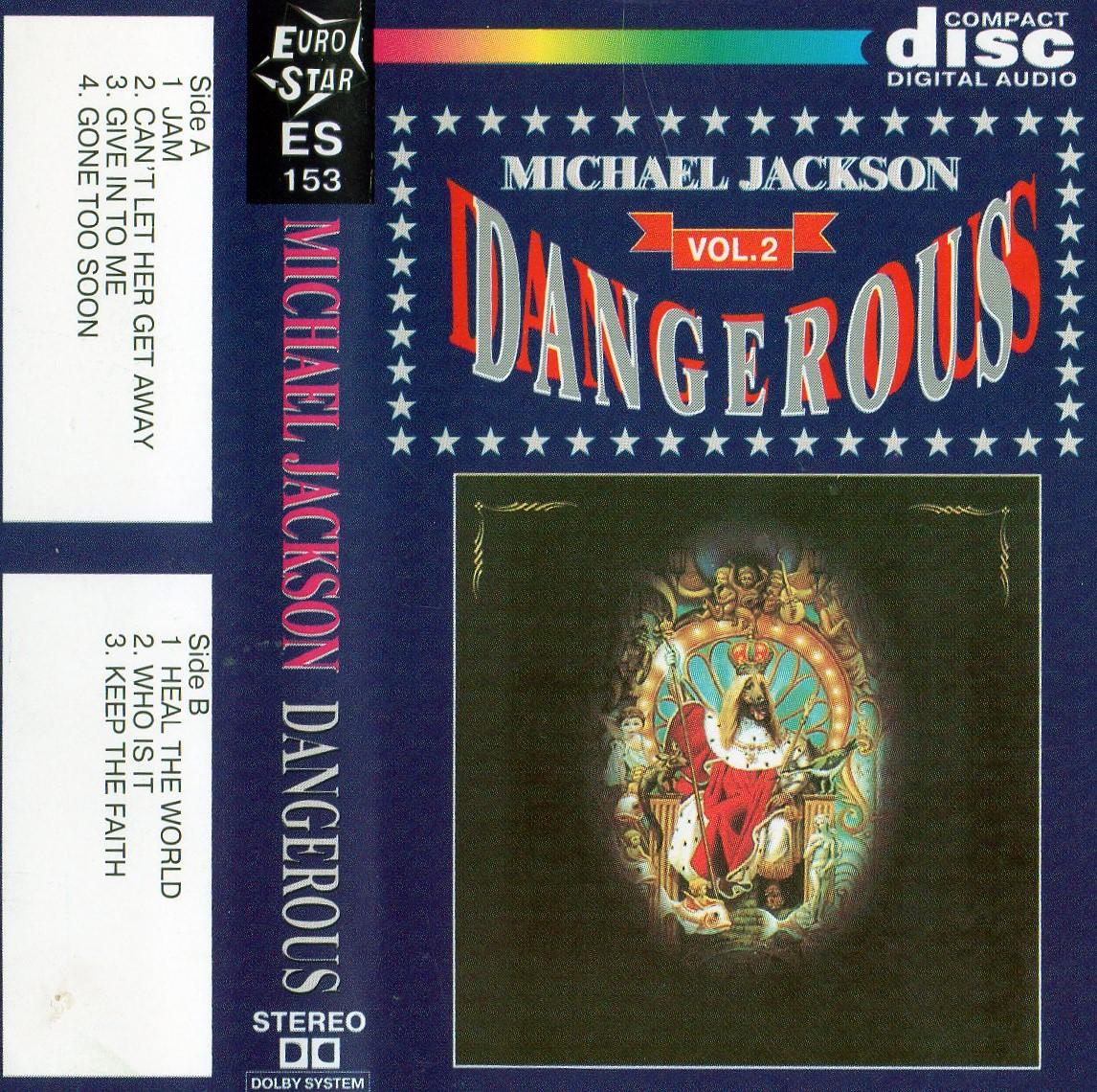 MIchael Jackson - Dangerous - Cassete - Cover 2
