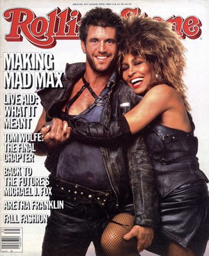 Mad Max cover on cover of Rolling Stone (1985)