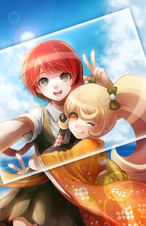 Mahiru Koizumi and Hiyoko Saionji | Super Danganronpa 2