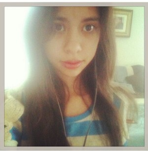 Me with straightened hair LOL