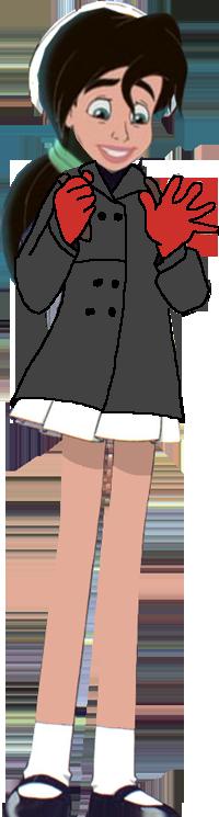 Melody as Sakura with Winter コート
