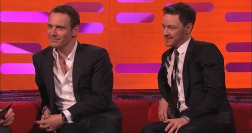James McAvoy and Michael Fassbender 壁紙 with a business suit, a suit, and a three piece suit called Michael/James