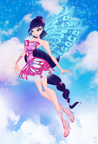 Winx Club fond d'écran called Musa Butterflyix