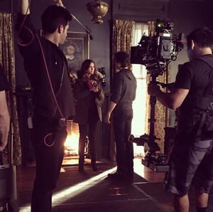 Nina and Ian On Set
