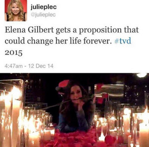 Nina on set & Julie's tweet