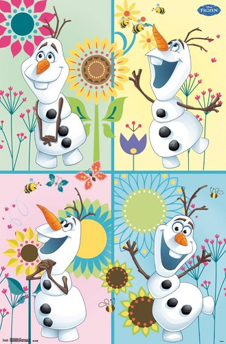 Frozen Fever Hintergrund probably containing a stained glass window and Anime entitled Olaf