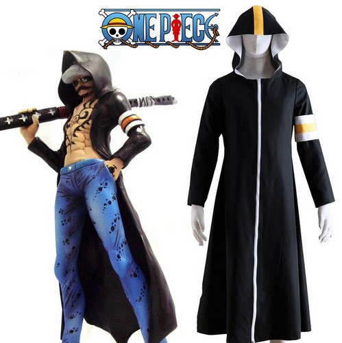 One Piece achtergrond called One Piece Seven Warlords of the Sea Surgeon of Death Trafalgar Law Overcoat Cosplay Costume
