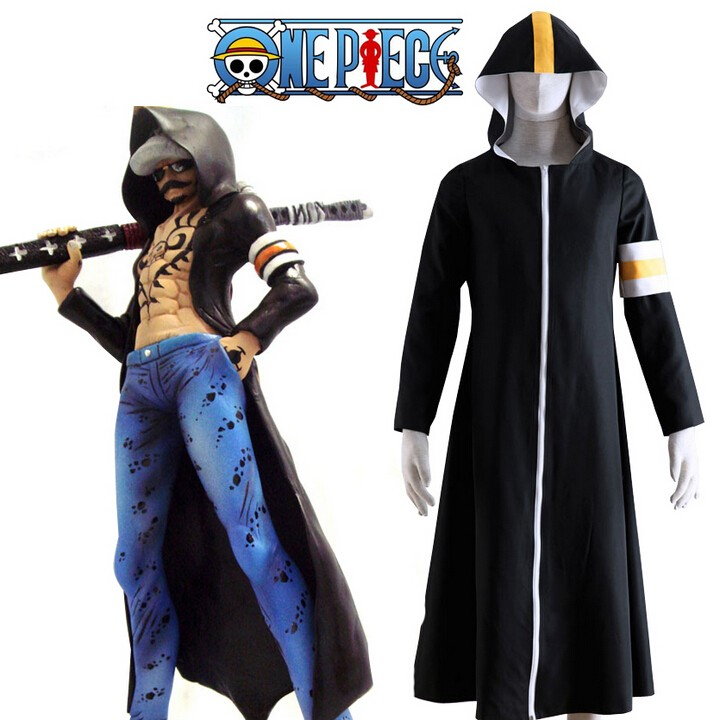One Piece Seven Warlords of the Sea Surgeon of Death Trafalgar Law Overcoat Cosplay Costume