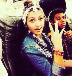 Paris Jackson and Jermajesty jackson westside 2015