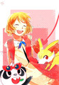 Pokemon Serena and Fennekin - serena-pokemon-xy fan art