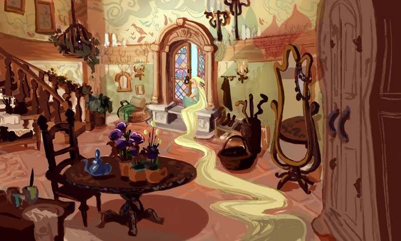 Concept Art Tangled Tangled Rapunzel Concept Art