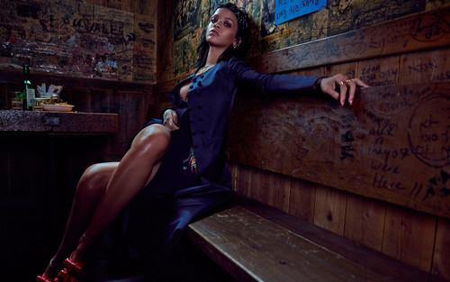 Rihanna wallpaper with a hip boot called Rihanna for W Korea magazine