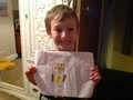 Sam holding a picture for Stampy