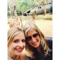Sarah with her childhood friend ♥ - sarah-michelle-gellar photo