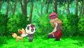 Serena Fennekin and Pancham - serena-pokemon-xy photo